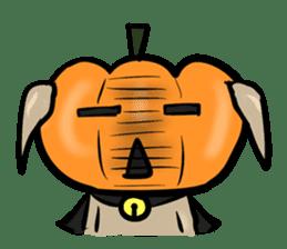 Pumpkin dog(English version) sticker #926325
