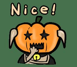 Pumpkin dog(English version) sticker #926326