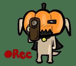Pumpkin dog(English version) sticker #926338