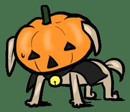 Pumpkin dog(English version) sticker #926343