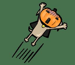 Pumpkin dog(English version) sticker #926346