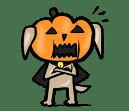 Pumpkin dog(English version) sticker #926351