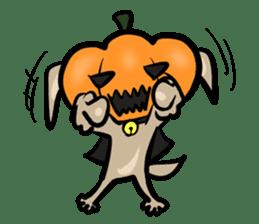 Pumpkin dog(English version) sticker #926352