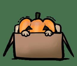 Pumpkin dog(English version) sticker #926357