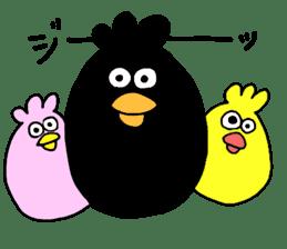Easygoing birds. sticker #926556