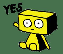 yellow robot sticker #928005