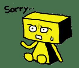 yellow robot sticker #928020