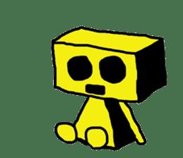 yellow robot sticker #928028