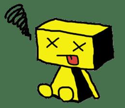 yellow robot sticker #928030