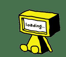 yellow robot sticker #928032