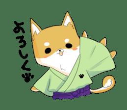 Dog Samurai My name Hachi. sticker #928537