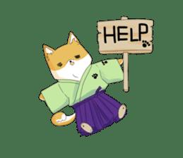 Dog Samurai My name Hachi. sticker #928541