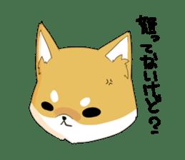 Dog Samurai My name Hachi. sticker #928545