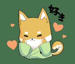 Dog Samurai My name Hachi. sticker #928555