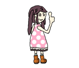 onepi-girl sticker #933447
