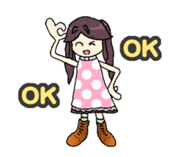 onepi-girl sticker #933448