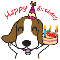 Porjai Beagle Dog sticker #933654