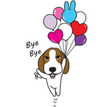 Porjai Beagle Dog sticker #933662