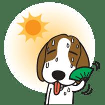 Porjai Beagle Dog sticker #933667
