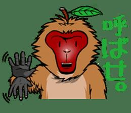 Japanese Macaque!? sticker #934682