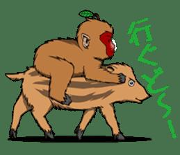 Japanese Macaque!? sticker #934696