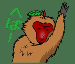 Japanese Macaque!? sticker #934718