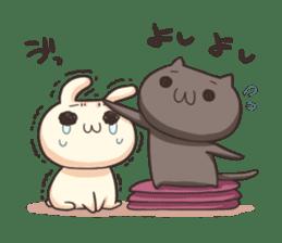Shiro the rabbit & kuro the cat sticker #934801