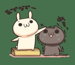 Shiro the rabbit & kuro the cat sticker #934803