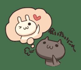 Shiro the rabbit & kuro the cat sticker #934805