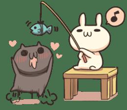 Shiro the rabbit & kuro the cat sticker #934808