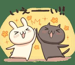 Shiro the rabbit & kuro the cat sticker #934810