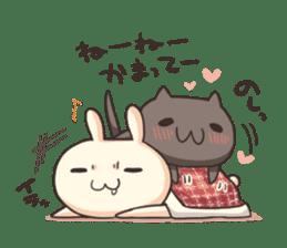 Shiro the rabbit & kuro the cat sticker #934812