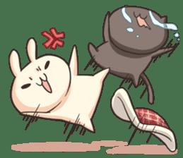 Shiro the rabbit & kuro the cat sticker #934813