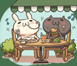 Shiro the rabbit & kuro the cat sticker #934816