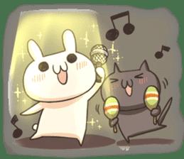 Shiro the rabbit & kuro the cat sticker #934819