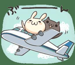 Shiro the rabbit & kuro the cat sticker #934821