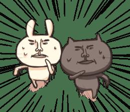 Shiro the rabbit & kuro the cat sticker #934824