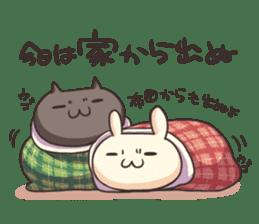 Shiro the rabbit & kuro the cat sticker #934826