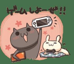 Shiro the rabbit & kuro the cat sticker #934827