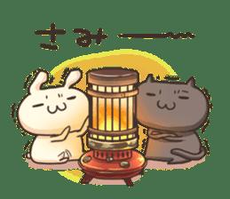 Shiro the rabbit & kuro the cat sticker #934830