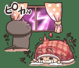 Shiro the rabbit & kuro the cat sticker #934832