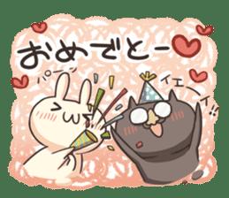 Shiro the rabbit & kuro the cat sticker #934834