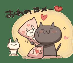 Shiro the rabbit & kuro the cat sticker #934837