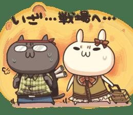 Shiro the rabbit & kuro the cat sticker #934838