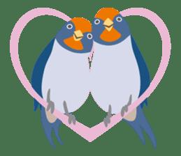 Japanese wild birds sticker #935079