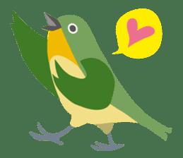 Japanese wild birds sticker #935084
