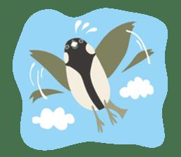 Japanese wild birds sticker #935093