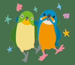 Japanese wild birds sticker #935096