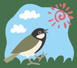 Japanese wild birds sticker #935100