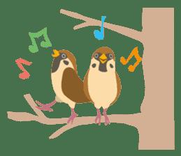 Japanese wild birds sticker #935101